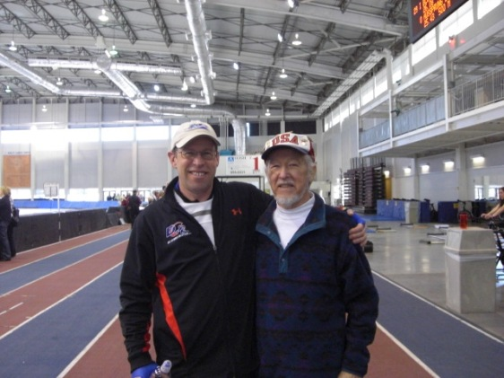 With my Father Harold Conner at the rink in Salt Lake City, Utah