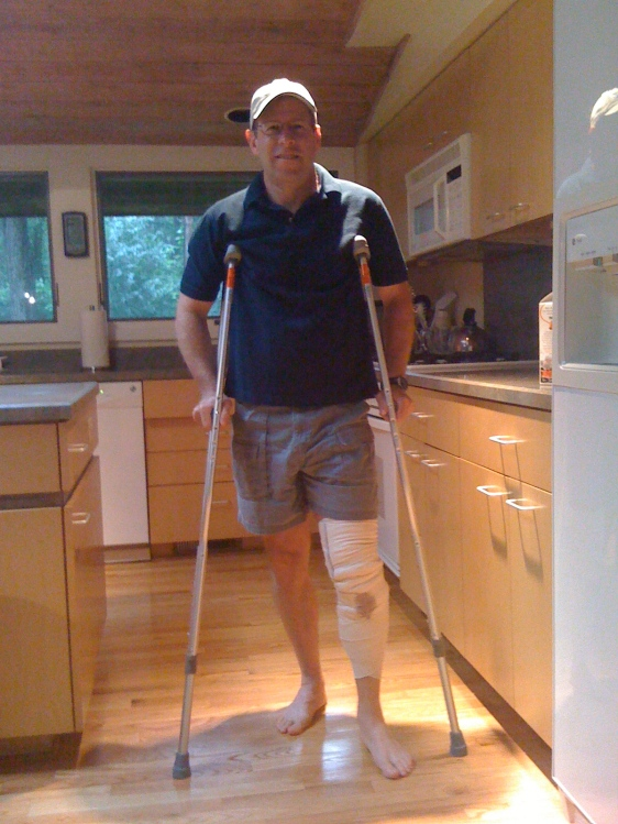 One day after Knee surgery July 2009, 3 months before US Olympic trials.