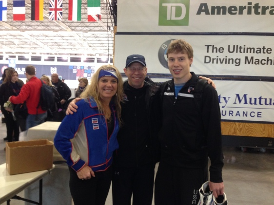 After the trials with my coach Nancy Swider-Peltz, Sr, and two time Olympian Brian Hansen.